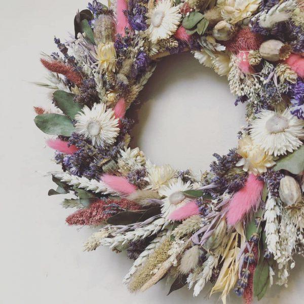 Dried Flower Wreath Wall Decoration