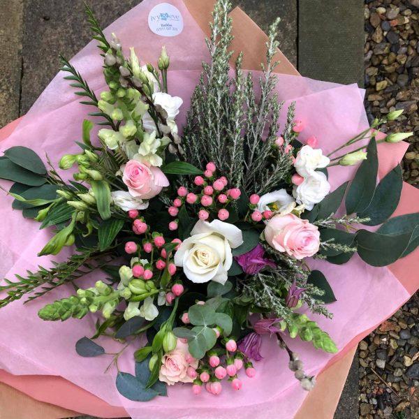 Pretty In Pink Hand Tied Luxury Bouquet