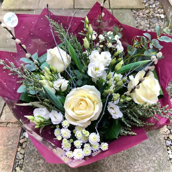 Purity Luxury Bouquet with White Roses