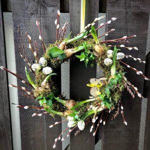 Spring Floral Door Wreath