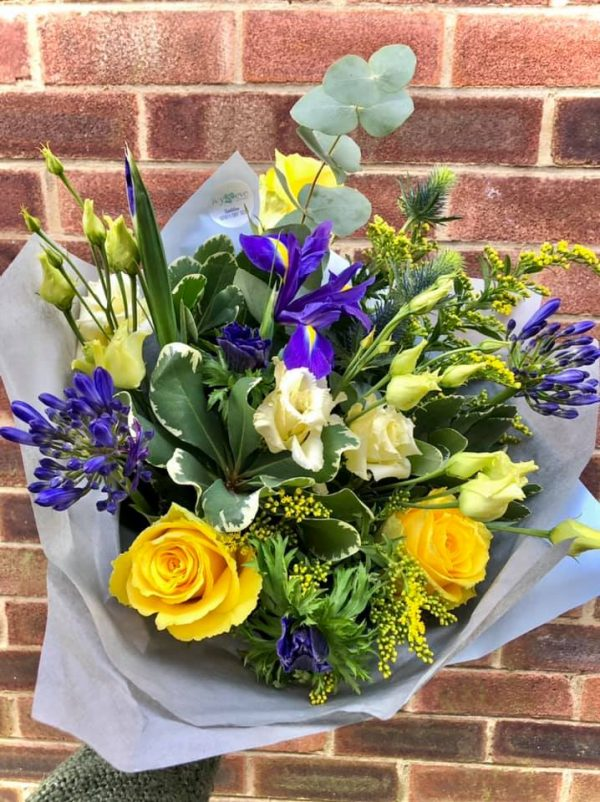 Vibrant Colours Hand Tied Luxury Bouquet Without Lilies